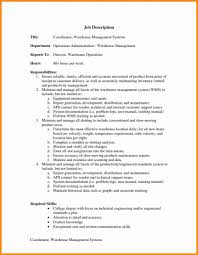 Warehouse Resume Warehouse Coordinator Sample Job Description Inventoryoller 95