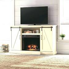 fireplace tv stand white in stand infrared bow front