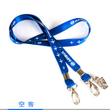 Blue Ribbon Design Us 8 99 Airbus Lanyard Blue Ribbon Rope Sling Simple Design For Id Case Holder For Pilot Aviation Lover Airman Flight Crew In Card Id Holders