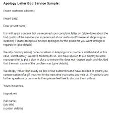 apology letter for bad service sample just letter templates apology letter poor customer service