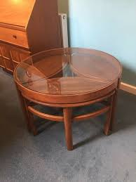 nathan teak coffee table and nest of tables in craigleith edinburgh gumtree decor wayfair furniture