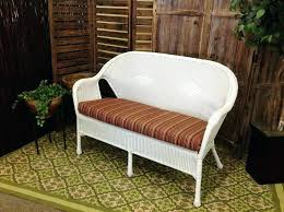 patio loveseat cushions outdoor clearance bay belvedere wicker glider