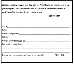 Comment Card Template Word Comment Card Template Word Akba Katadhin