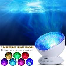 Ocean Wave Projector Night Light Us 19 71 32 Off Ocean Wave Projector 12 Led With Remote Control Undersea Projector Lamp 7color Changing Music Player Night Light For Kids Adults In