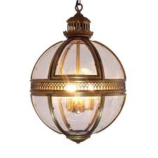 vintage loft globe pendant lights wrought iron glass shade round lamp kitchen dinning bar table luminaire fixture hanging lamps