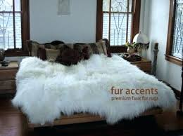 faux fur rug premium faux fur sheepskin rug accent throw 7 new faux fur rug ikea faux fur rug thick white mountain sheepskin