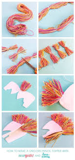 diy unicorn felt topper this adorable craft is perfect for kids decorate your birthday