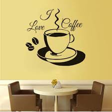 Coffee and cake wallpaper desktop wallpaper wallpaperlepi. I Love Coffee Wall Sticker Pvc Removable Cute Coffee Cup Wallpaper Vinyl Wall Decal Restaurant Kitchen Home Decoration 58 60cm Amazon Co Uk Diy Tools