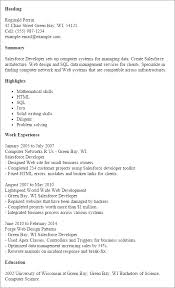 Ideas Collection Sample Salesforce Resume About Proposal