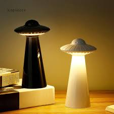Xiapistore Ufo Design Mini Rechargeable Led Table Lamp Stepless