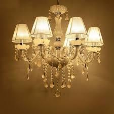 new modern white crystal chandeliers ceiling hanging light lamp for livingroom bedroom indoor lighting decoration