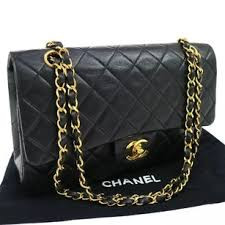Chanel Vintage Lambskin Quilted Medium Double Flap Black Leather ... & Chanel Shoulder Bag Adamdwight.com