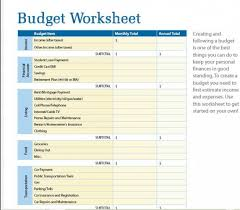 Printable Household Budget Worksheets Budget Worksheets Online Under Fontanacountryinn Com