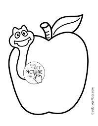 top simple coloring pages for 2 year olds free with worm fruits kids printable two