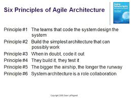 Principles Of Architecture Agile Architecture Principle 6 System Architecture Is A
