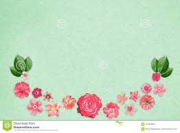 Design Paper Background Flower Beautiful Flower Design Frame With Empty In Center On Green