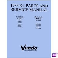 Vendo Vending Machine Manuals Magnificent USERSERVICEPARTS MANUAL For VENDO EZ Load MaxiLoad Soda
