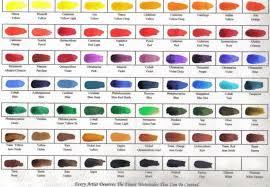 Watercolor Palette Chart Winsor Newton Professional Watercolor Chart Pdf Www