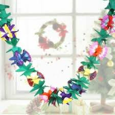 Paper Flower Garland Details About Party Paper Flower Garland 9 9ft Luau String Colorful Birthday Paper Banner