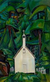 this painting by emily carr was called indian church it has been renamed church at yu village