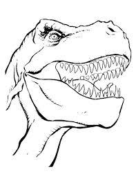Kleurplaat T Rex