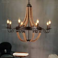 wine barrel lighting. revia rustic black metal 1tier 3light6light8light candelabra style chandelier u0026 hemp rope wine barrel lighting
