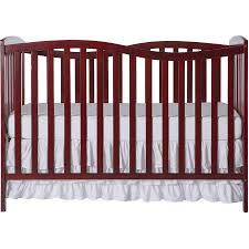 convertible baby cribs. Convertible Baby Crib 5-in-1 Cherry Finish Nursery Furniture Bed Sleeper NEW Cribs B
