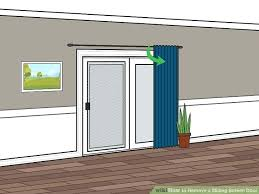 how to remove sliding door image titled remove a sliding screen door step remove sliding door