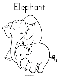 Small Picture Elephant Color Page FunyColoring
