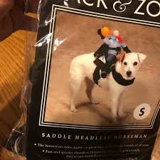 Petco Dog Collar Size Chart Dog Halloween Costume Headless Horseman Nwt