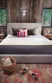 decorating with barn board bedroom rustic with reclaimed wood wall walnut cabinets lake tahoe retreat