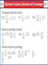 Percents Decimals And Fractions Akasharyans Com
