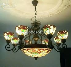 hanging stained glass light fixtures ing s vintage stained glass hanging light fixture