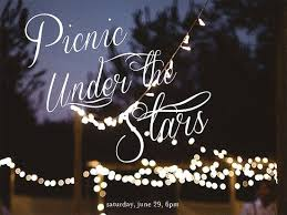 Image result for picnic under the stars