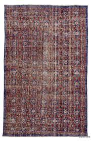 red blue turkish vintage rug 5 7 x 9 67 in x 108 in