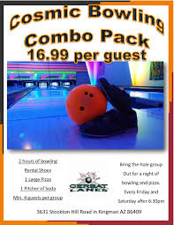 bring the whole family out for a night of bowling and pizza every friday and saay after 6 30pm