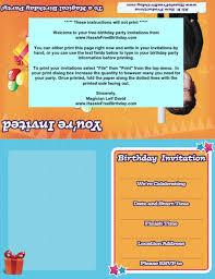 Free Birthday Invitations 40 Free Birthday Party Invitation Templates Template Lab