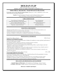 Chic Maintenance Mechanic Resume Template For Beauteous