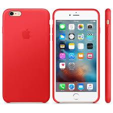 apple iphone 6 plus 6s plus leather case red 1
