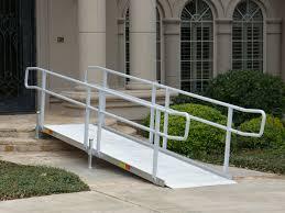 ez access portable and modular wheelchair ramps for homes