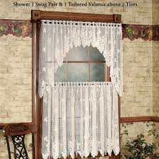 Kitchen Window Curtain Panels Kitchen Curtains Tiers And Valance Window Treatments Touch Of Class
