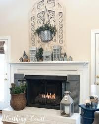 painted brick fireplace winter decorations mantel decor red decorating ideas farmhouse brick fireplace
