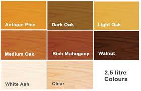 Ronseal Varnish Colour Chart Ronseal Diamond Hard Floor Varnish Coloured 2 5 Litre