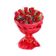 red rose bouquet send gift to kerala