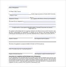 6 Sample Immediate Resignation Letter Templates Pdf Doc Free