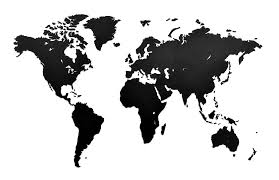 <b>Деревянная карта мира World</b> Map Wall Decoration Medium, черная
