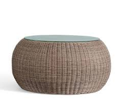 round rattan coffee table. Torrey All Weather Wicker Round Coffee Table Natural Rattan C