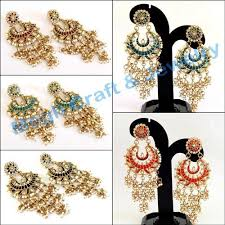 wedding wear chandelier kundan earring big earring