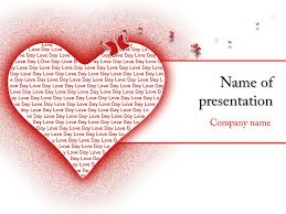 Heart Powerpoint Templates Love Heart Powerpoint Template For Impressive Presentation