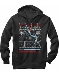 Star Wars Men\u0027s Ugly Christmas Sweater Duel Hoodie Spectacular Deal on